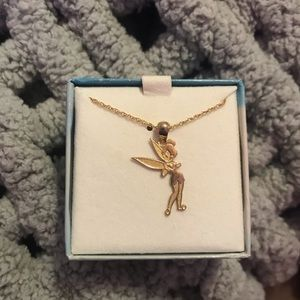 Tinker bell gold necklace